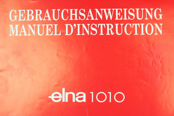 Bedienungsanleitung Elna 1010 DE/FR