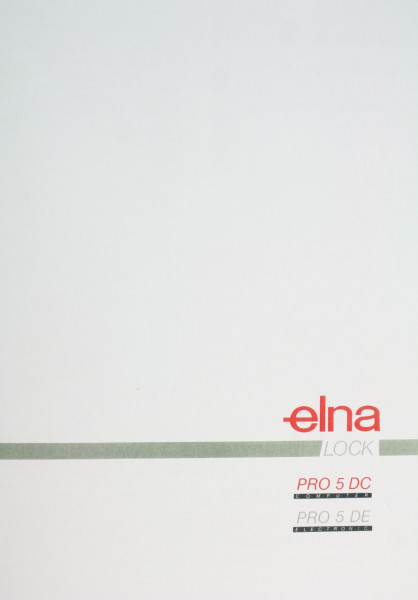 Bedienungsanleitung Elna 5DC mehrsprachig