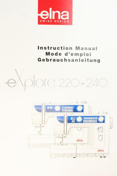 Gebrauchsanweisung Elna eXplor 220 und 240 mehrsprachig