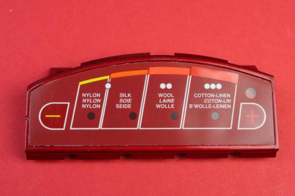 Einstelltafel - Halter (rot)